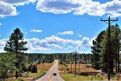 Fonds de tour de rassemblement de liberté du courrier 86 de légion américaine - éleveur en Arizona du nord, Etats-Unis images stock