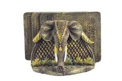 Fonds de verre de boissons d'éléphant Photo libre de droits