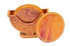 fonds de verre en bois Image stock