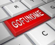 Fonds politiques de Gofundme d'atout pour nous financement de mur du Mexique - illustration 3d photographie stock libre de droits