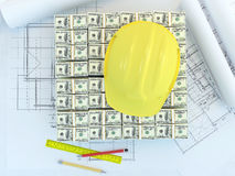 Fonds pour la construction neuve Image stock