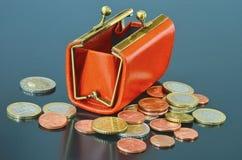 Fonds- und Euromünzen Lizenzfreie Stockfotografie