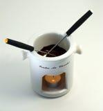 fondue δύο σοκολάτας Στοκ εικόνες με δικαίωμα ελεύθερης χρήσης
