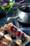 fondue επιδορπίων πιάτο Στοκ Εικόνες