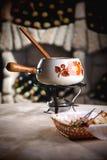 fondue κελαριών κρασί στοκ εικόνες