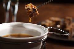 fondue σοκολάτας Στοκ εικόνες με δικαίωμα ελεύθερης χρήσης