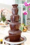 Fondue σοκολάτας πηγή Στοκ εικόνα με δικαίωμα ελεύθερης χρήσης