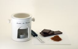 fondue шоколада готовый Стоковые Фото