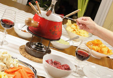 Fondue bourguignonne Royalty Free Stock Images