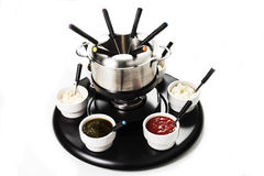 Fondue or bourguignonne Royalty Free Stock Photography