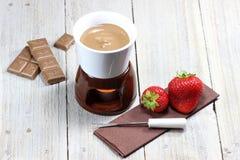 Fondue de chocolat photo stock
