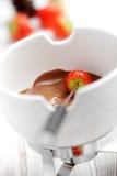 Fondue de chocolate imagens de stock