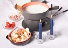 Fondue de fromage photo stock