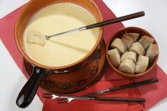 Fondue de fromage Photographie stock libre de droits