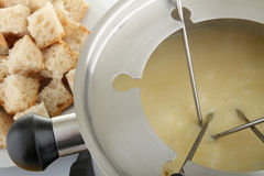 Fondue de queijo Foto de Stock Royalty Free