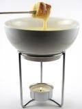 'fondue' de queso en crisol Imágenes de archivo libres de regalías