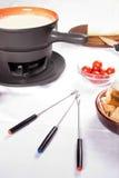 'fondue' de queso francesa fotografía de archivo