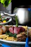 Fondue dining platter Stock Images