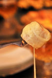 Fondue dipping sauce royalty free stock photography