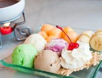 Fondue ice cream Stock Images