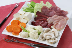 Fondue ingredients Royalty Free Stock Photo