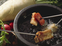 fondue mięso Zdjęcie Stock