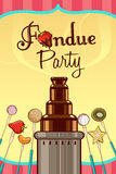 Fondue party invitation Royalty Free Stock Photos