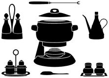 Fondue pot Stock Images