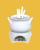 Fondue set Stock Image