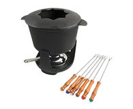 Fondue set Stock Photography
