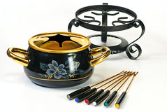 Fondue set Stock Photo