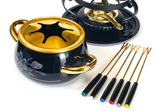 Fondue set Stock Images