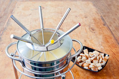 Fondue set Royalty Free Stock Photos