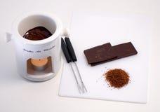 Fonduta di cioccolato fotografie stock