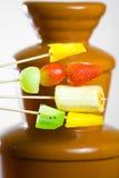 Fonduta di cioccolato Fotografia Stock