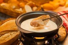 Fonduta di formaggio Immagini Stock Libere da Diritti
