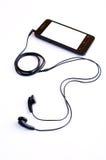Fone de ouvido e handphone Imagem de Stock Royalty Free