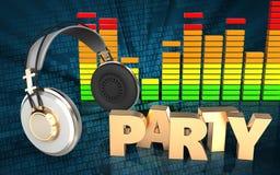 fones de ouvido audio do espectro 3d Foto de Stock