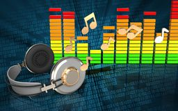 fones de ouvido audio do espectro 3d Fotografia de Stock