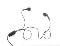 Fones de ouvido audio portáteis modernos isolados Imagem de Stock Royalty Free