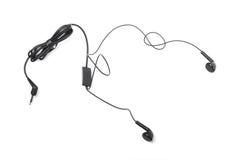 Fones de ouvido audio portáteis modernos isolados Fotografia de Stock