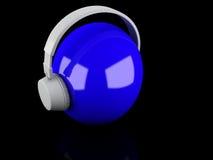 Fones de ouvido 3D. Ícone Foto de Stock