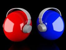 Fones de ouvido 3D. Ícone Imagem de Stock
