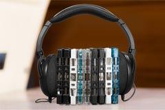 Fones de ouvido da música Foto de Stock