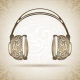 Fones de ouvido do ornamental do vintage Fotografia de Stock Royalty Free
