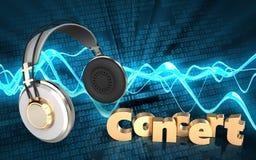 fones de ouvido dos fones de ouvido 3d Imagem de Stock Royalty Free