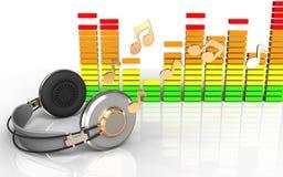 fones de ouvido dos fones de ouvido 3d Ilustração Royalty Free