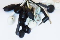 Fones de ouvido e conectores foto de stock