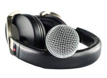 Fones de ouvido e microfone Foto de Stock Royalty Free