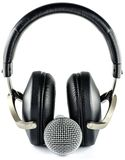 Fones de ouvido e microfone Fotografia de Stock Royalty Free